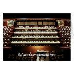 Large organ console DIY greeting Card