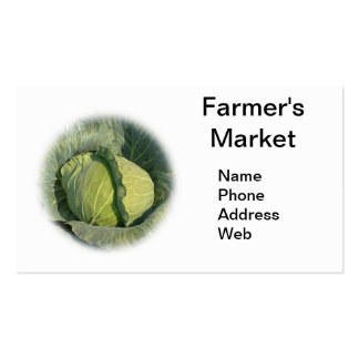 Large Organic Green Cabbage Double-Sided Standard Business Cards (Pack Of 100)