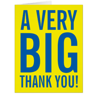 Large oversized employee recognition greeting card