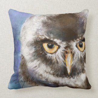 Large Owl Art Pillow