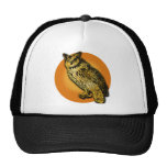 Large Owl with Orange Moon Tshirts, Mugs Trucker Hats