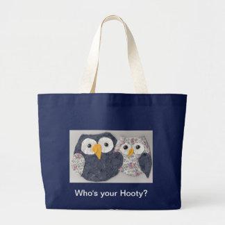 Large Owls Tote Bag