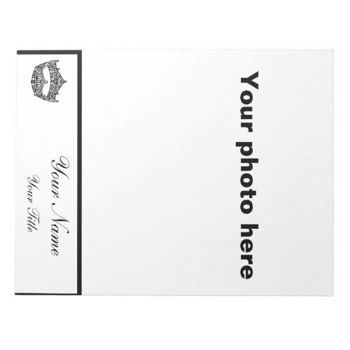 Large pageant autograph notepad _ create your own