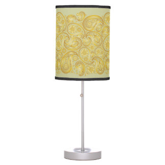 Large Paisleys in Gold - Standing Lamp 3