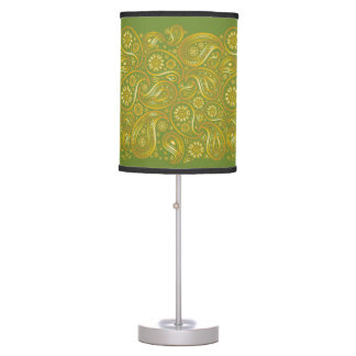 Large Paisleys in Gold - Standing Lamp 3B