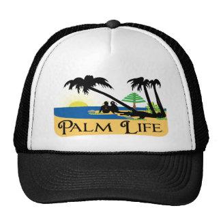 LARGE - Palm Life Beach Scene Trucker Hat