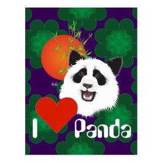 Large panda (Ailuropoda melanoleuca) postcard