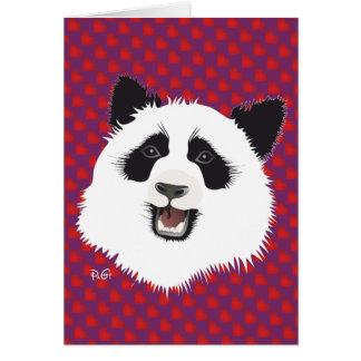 Large panda (Ailuropoda melanoleuca) with saying Card