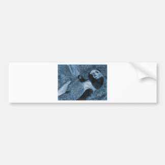 Large Panda Play Blue Hue Bumper Sticker