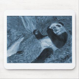 Large Panda Play Blue Hue Mouse Pad