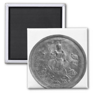 Large patera depicting a goddess 2 inch square magnet