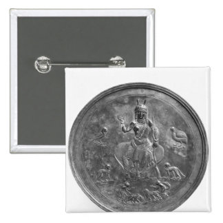 Large patera depicting a goddess 2 inch square button