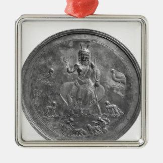 Large patera depicting a goddess ornaments
