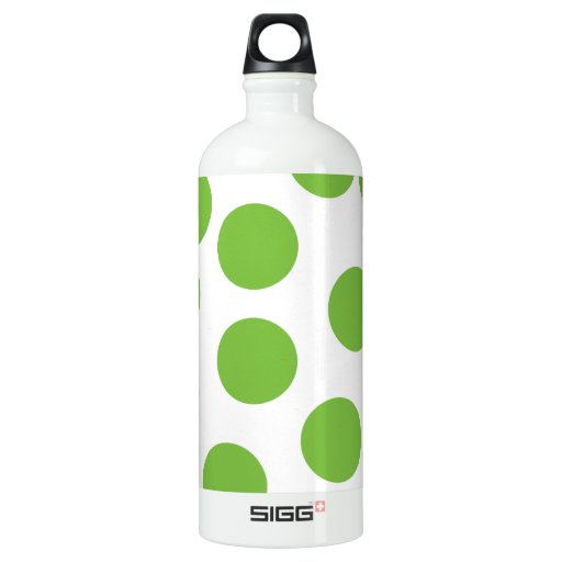 Large Pea Green Dots on White. SIGG Traveler 1.0L Water Bottle
