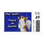 Large Peace Wish Dott Angel W Stamp