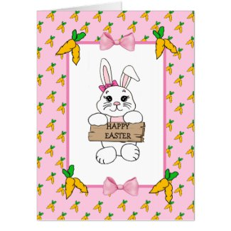 Large Personalized Easter Card with Coloring Page