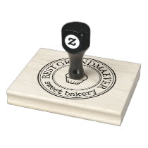 Large Personalized Homemade Logo Borders Custom Rubber Stamp