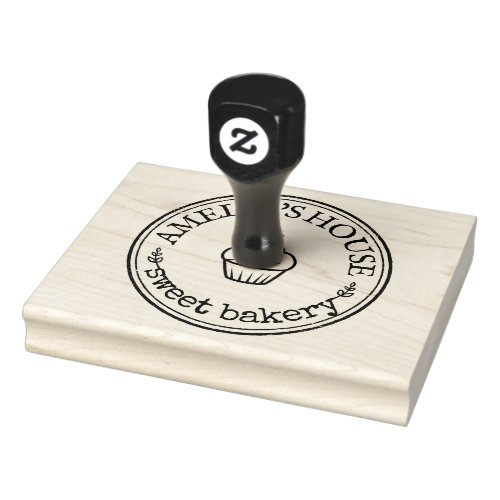 Large Personalized Homemade Logo Custom Rubber Stamp