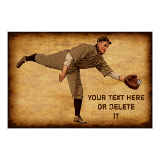 Large PERSONALIZED Vintage Baseball Posters