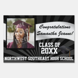 Large Photo Graduation Banner Yard Sign