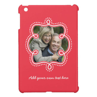 Large Photo in Doodle Frame and Custom Text Case For The iPad Mini