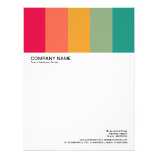 Large Picture Header - Colorbars 01 Personalized Letterhead