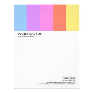Large Picture Header - Colorbars 02 Letterhead Design