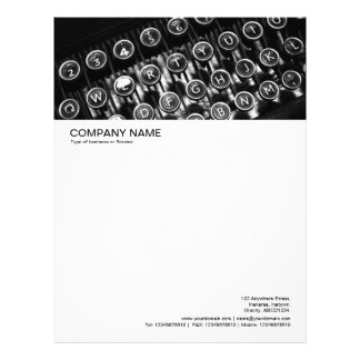 Large Picture Header - Vintage Typewriter Personalized Letterhead