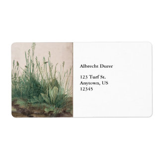 Large Piece of Turf by Albrecht Durer Custom Shipping Label