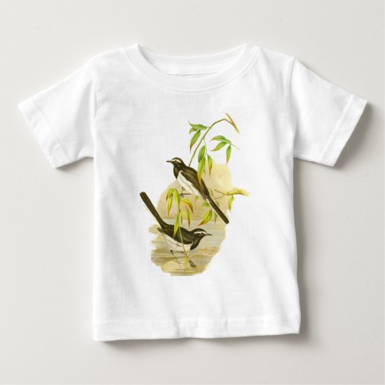 Large Pied Wagtail Baby T-Shirt