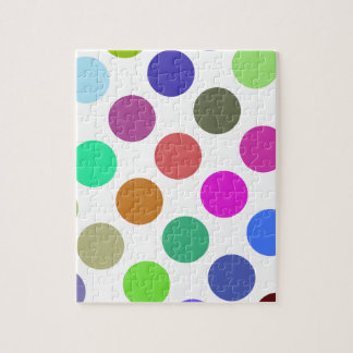 Large Pink And Blue Dots Jigsaw Puzzles