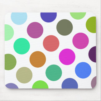 Large Pink And Blue Dots Mouse Pad