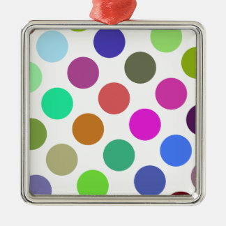 Large Pink And Blue Dots Christmas Ornaments