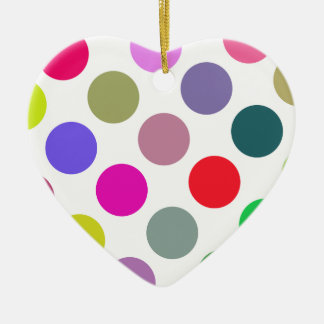Large Pink And Purple Dots Christmas Ornament