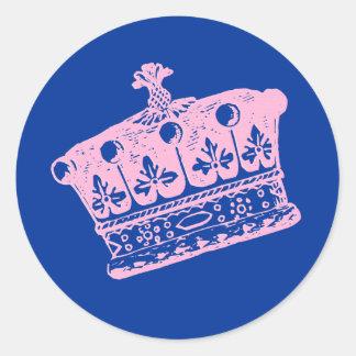 Large Pink Crown or Tiara Sticker