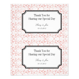 Do it yourself flyers programs zazzle large pink damask diy wedding gift bag hang tag flyer solutioingenieria Images