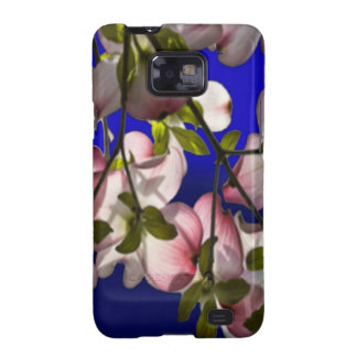 Large Pink Dogwood Flowers - Blue Galaxy S2 Cases