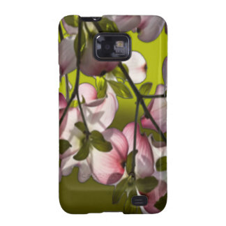 Large Pink Dogwood Flowers - Green Galaxy SII Cover