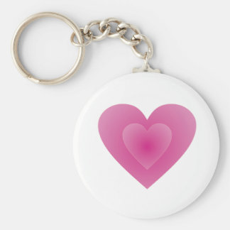 Large Pink Heart Keychain