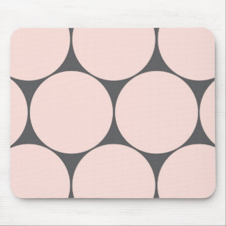 large pink polka dots mouse pad