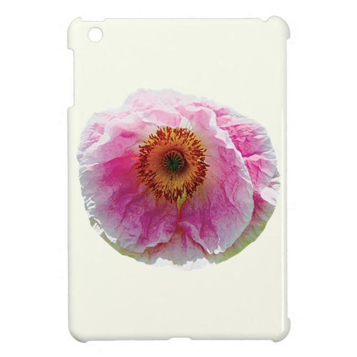 Large Pink Poppy iPad Mini Covers