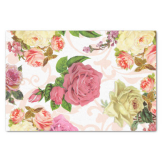 vintage roses craft tissue paper zazzle. Black Bedroom Furniture Sets. Home Design Ideas