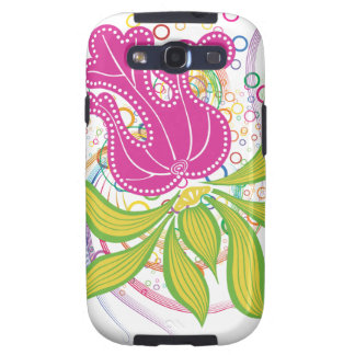Large Pink Water Lilly Samsung Galaxy SIII Cases