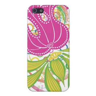 Large Pink Water Lilly Case For iPhone SE/5/5s