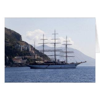 Large Pirate Ship Greeting Card