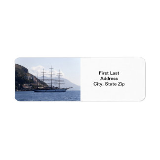 Large Pirate Ship Label