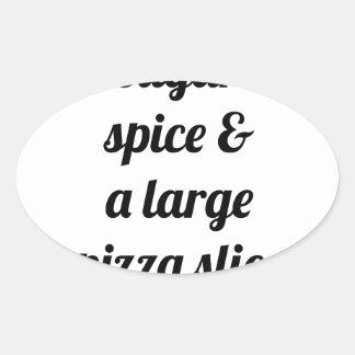 Large Pizza Slice Oval Sticker