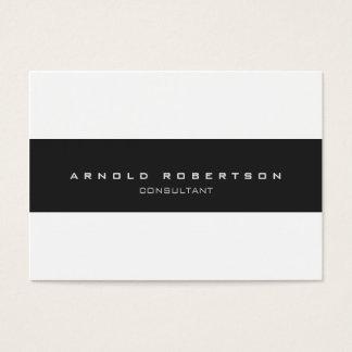 Large Plain Grey White Professional Business Card