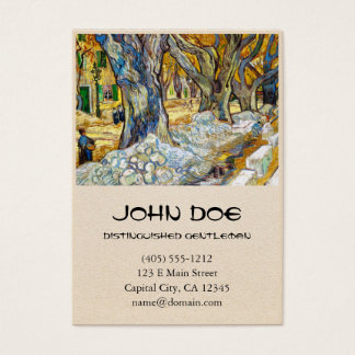 Large Plane Trees by Vincent Van Gogh Business Card