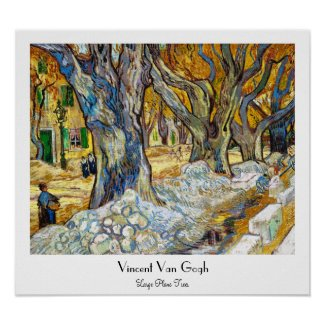 Large Plane Trees by Vincent Van Gogh Print